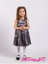 Нарядное детское платье Анита серебро