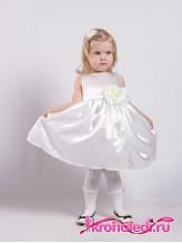 Нарядное детское платье Дарина белое