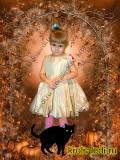 Нарядное детское платье Золотое