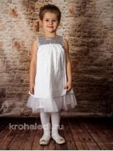 Нарядное детское платье Алина белое