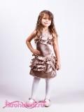 Нарядное детское платье Капуччино