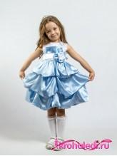 Нарядное детское платье Милана голубое