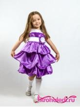 Нарядное детское платье Милана сирень
