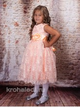 Нарядное детское платье Персик