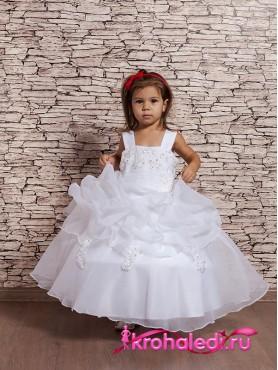 cf3d82e63ef Детское белое пышное платье Венский вальс