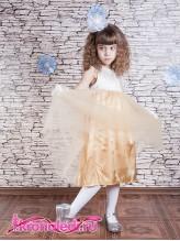 Нарядное детское платье Барокко золото