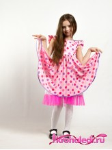 Нарядное детское платье Хлопушка розовое