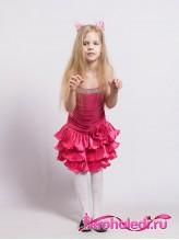 Нарядное детское платье Луиза малина