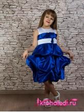 Нарядное детское платье Милана электрик