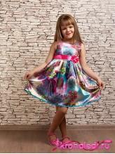 Нарядное детское платье Средиземноморье бирюза