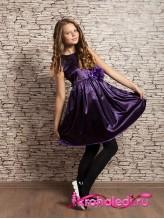 Нарядное детское платье Дарина фиолетовое