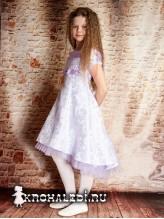 Нарядное детское платье Флора сирень