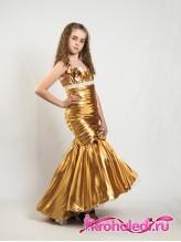 Нарядное детское платье Леди золото