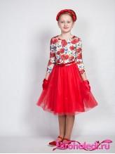 Нарядное детское платье Маков цвет