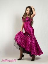 Нарядное детское платье Миледи малина