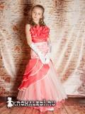 Нарядное детское платье Русалочка коралл