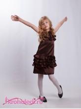Нарядное детское платье Шоколад