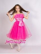 Нарядное детское платье Жизель малиновое