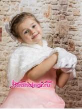 Детская меховая накидка Снегурочка айвори