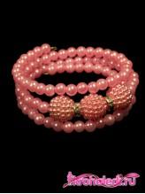 Детский браслет Ариэль розовый