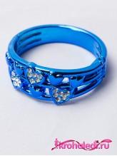 Детский браслет Сердечки синий