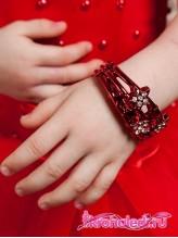 Детский браслет Звезды красный