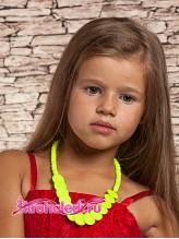 Детские бусы и серьги Канарейка