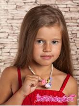 Детские бусы и браслет Розовый сад