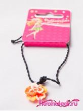 Детский кулон Роза оранжевая