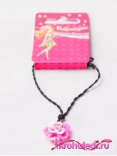 Детский кулон Роза розовая