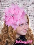 Школьный бант Амариллис розовый