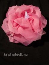 Школьный бант Балерина розовый
