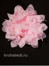 Школьный бант Фламенко розовый