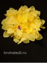 Школьный бант Фламенко желтый