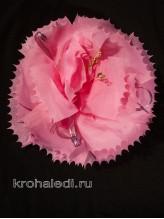 Школьный бант Гвоздика розовый