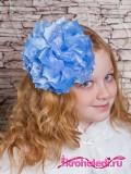 Школьный бант Люкс голубой