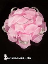Бант на зажиме Версаль розовый