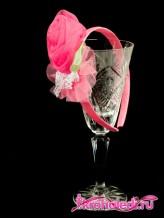 Детский ободок Абаль розовый