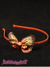 Детский ободок Бабочка оранжевая