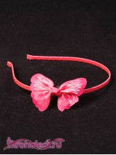 Детский ободок Бабочка розовая