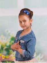 Детский ободок Бабочка синяя