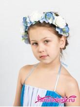Детский ободок Июль голубой