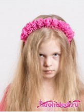 Детский ободок Красотка темно-розовый
