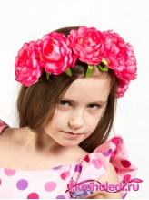 Детский ободок Лада розовый