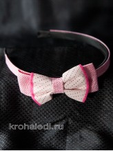 Детский ободок Ретро розовый