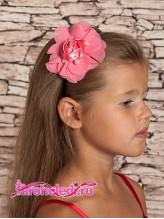 Детский ободок Роза коралловая