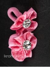 Пара резинок Кроха темно-розовая