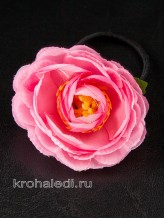 Пара резинок Пионы розовые