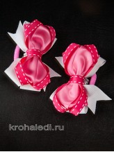 Пара резинок Забава розовая
