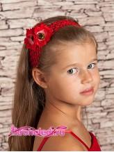 Повязка на волосы Фиалки красные